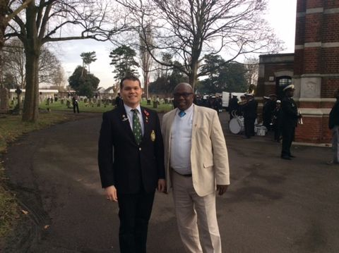 Lgr Claudio Chiste` with Siboniso Makaye, one of the descendants who attended.