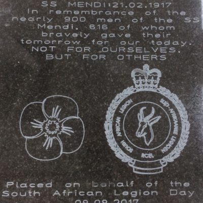 Plaque to be laid